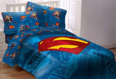 superman bed set superman emblem 4 piece comforter set