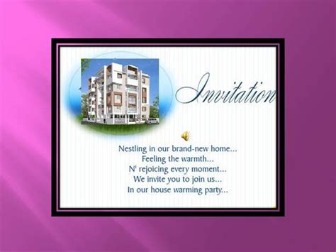 Invitation Letter Housewarming Ceremony House Warming Ceremony Invitation Authorstream