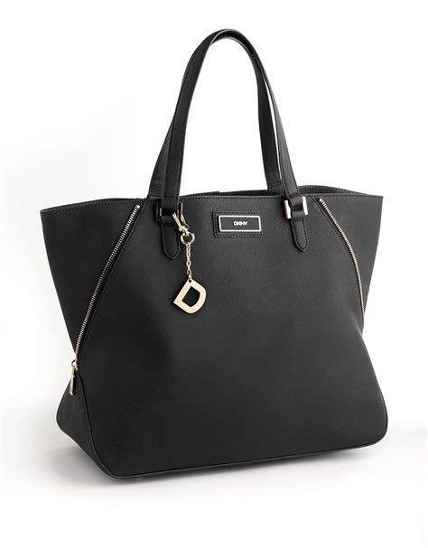 Allens Dkny Bag by Lyst Dkny Saffiano Leather Tote Bag In Black