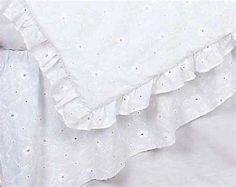 white eyelet crib bedding set by sweet jojo designs 9