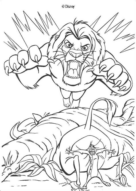 Scary Lion Coloring Page | scary scar coloring pages hellokids com