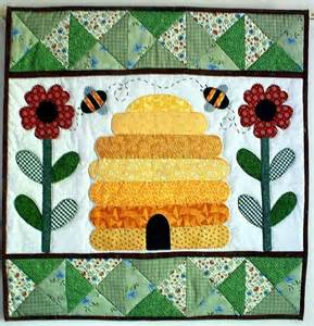 bee hive wall quilt by the patchsmith quilting pattern