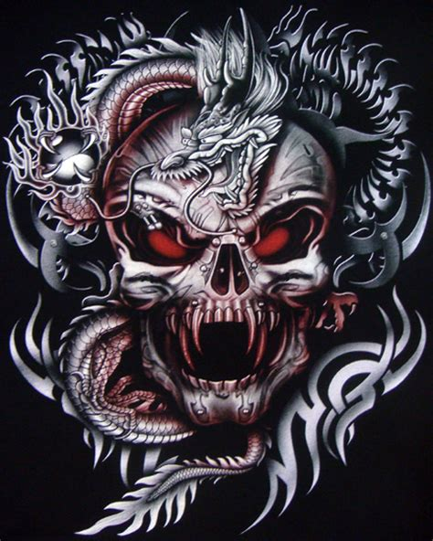 dragon vampire skull t shirt t shirts mens tattoo