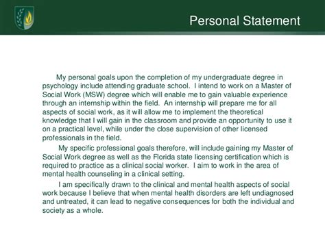 personal statement graduate school social work research