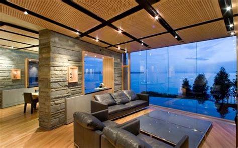 modern living rooms  stunning views