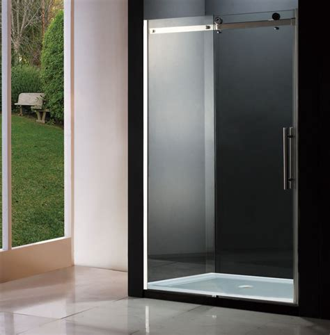 Bathroom Shower Doors Home Depot Jade Bath Riga Sliding Shower Door 60 Inch Base Not Included The Home Depot Canada