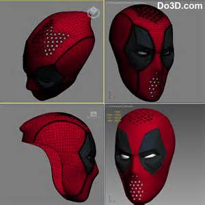 Deadpool Mask Template by 3d Printable Model Deadpool Mask Faceshell With 6