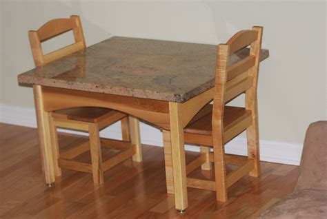 Custom Table Set crafted childrens table and chair set by