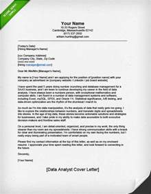 Cover Letter Title Exle by Professional Data Analyst Cover Letter Resume Genius