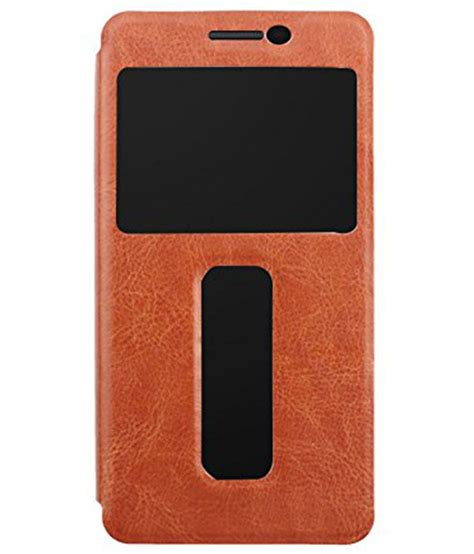 P1 Cover ziaon flip cover for lenovo vibe p1 brown flip covers