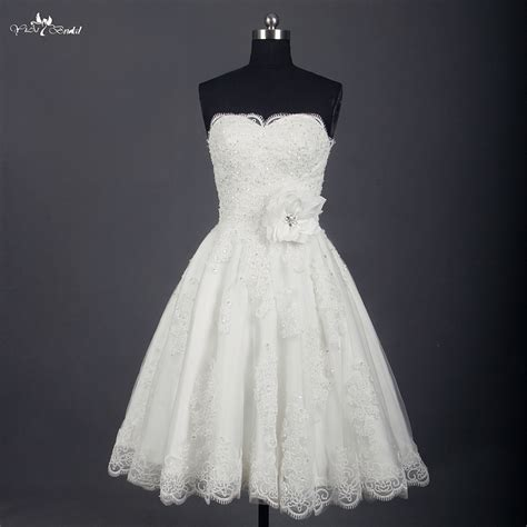 Vintage Wedding Dress Our One by Rsw745 Wedding Dress Knee Length Lace Ivory Simple