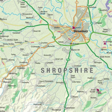 Wall Stickers London shropshire county map map graphics