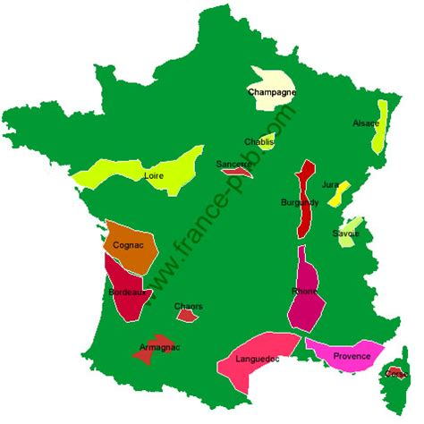 France Wine Regions Map by Wineries In France Map