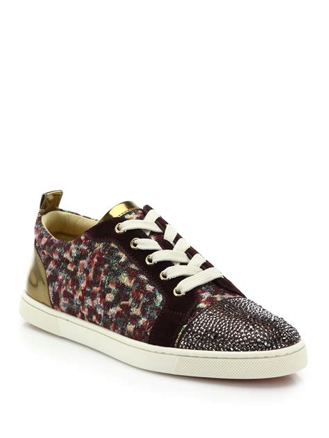 christian louboutin sneakers christian louboutin gondolastrass low top sneakers in