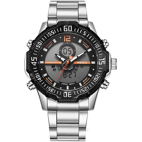 Jam Gc Stainless Steel weide jam tangan pria stainless steel wh6105 black