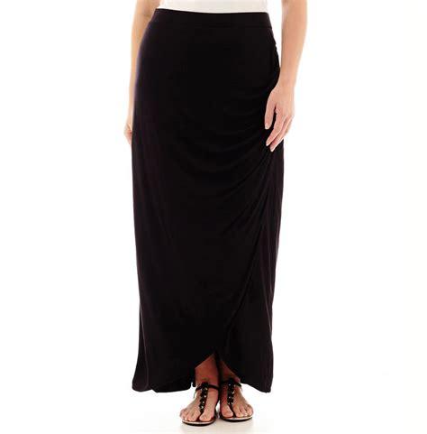 jcpenney worthington gathered waist maxi skirt plus