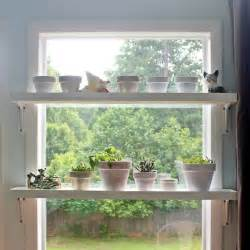 diy window plant shelves