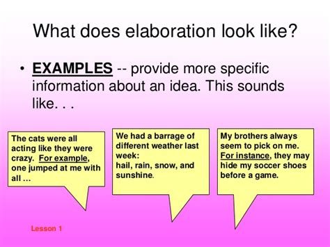 what does in definitions of elaboration