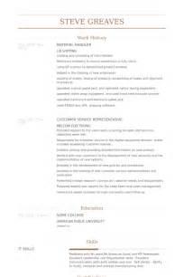 Material Handler Resume by Material Handler Resume Sles Visualcv Resume Sles Database