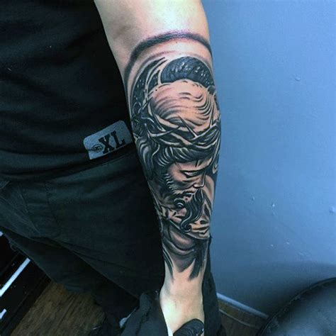 outer forearm tattoos 50 jesus forearm designs for ink ideas