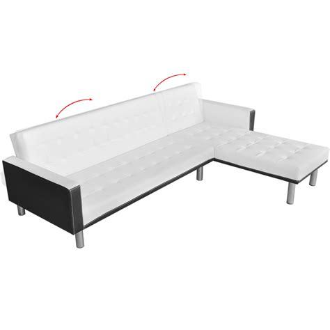 black l shaped sofa bed white l shaped sofa bed adjustable white black lovdock