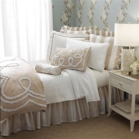 Pine Cone Comforter White Tan Bedding