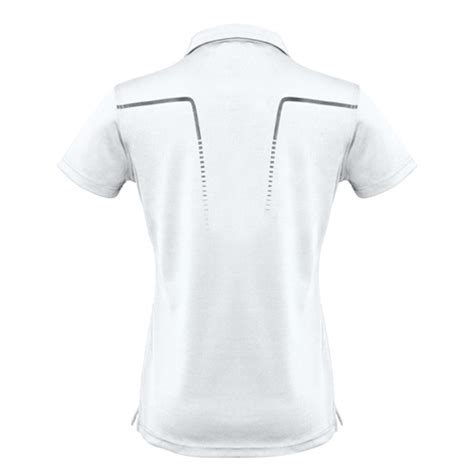 white and silver ls biz cyber ladies biz cool breathable antibacterial polo p604ls