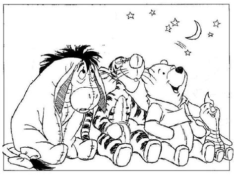 winnie the pooh and friends look sky coloring pages bebo