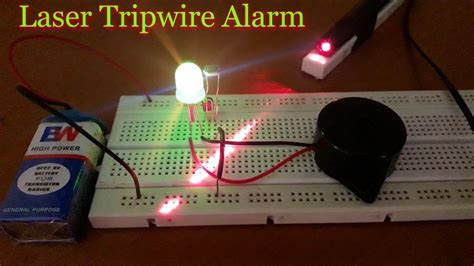 how to make a quot laser security alarm system quot at home on a