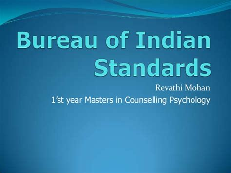 buro of indian standard bureau of indian standards bis