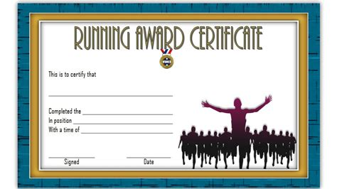 running certificates templates free running certificate 6 the best template collection