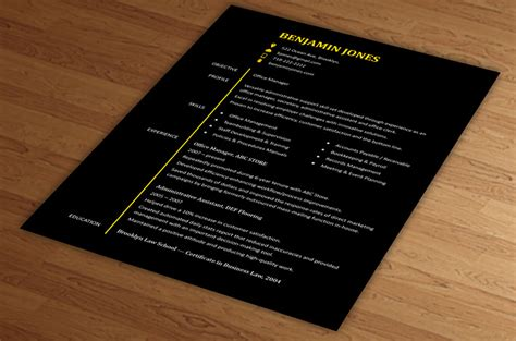 stylish cv format word professional resume templates that stand out