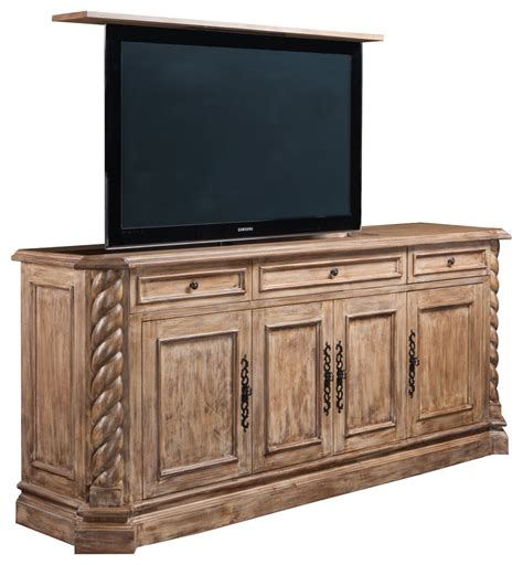 hidden tv lift cabinet traditional bedroom new york tv lift cabinets family room traditional with foot of bed