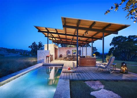When Did House Air by Open Air Story Pool House By Lake Flato 12