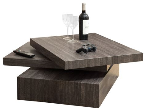 Haring Square Rotating Coffee Table   Contemporary