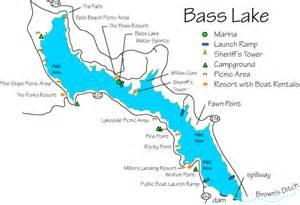 bass lake california map bass lake fishing