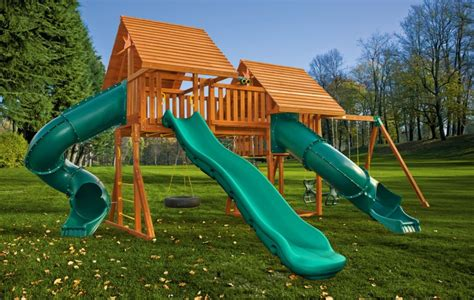 wooden swing set with bridge fantasy jungle gyms ma ri eastern jungle gym swing sets