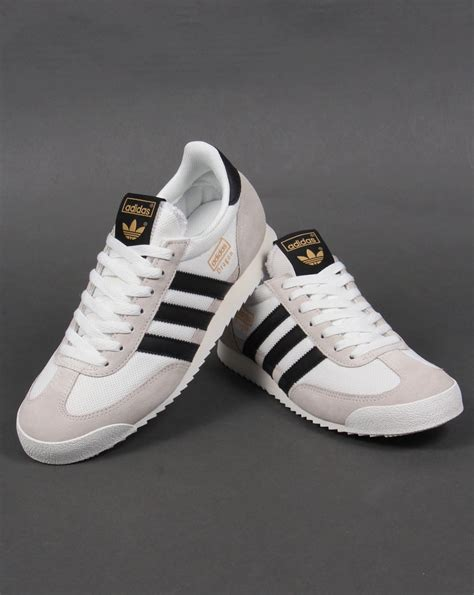 black and white patterned adidas trainers adidas dragon trainers white black originals shoes mens