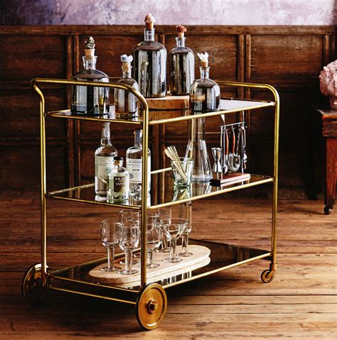Art Deco Roaring 1920s Rolling Serving And Bar Cart