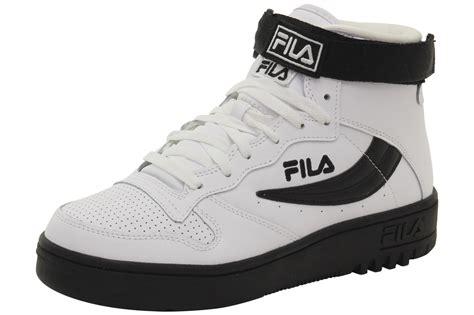 fila high top sneakers fila s fx 100 white black high top sneakers shoes ebay