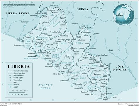 political map of liberia large detailed political and administrative map of liberia