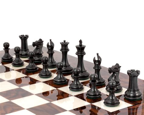 shop for luxury chess sets and chessboards at chess store black sovereign luxury chess set rcpb256 163 437 04 the