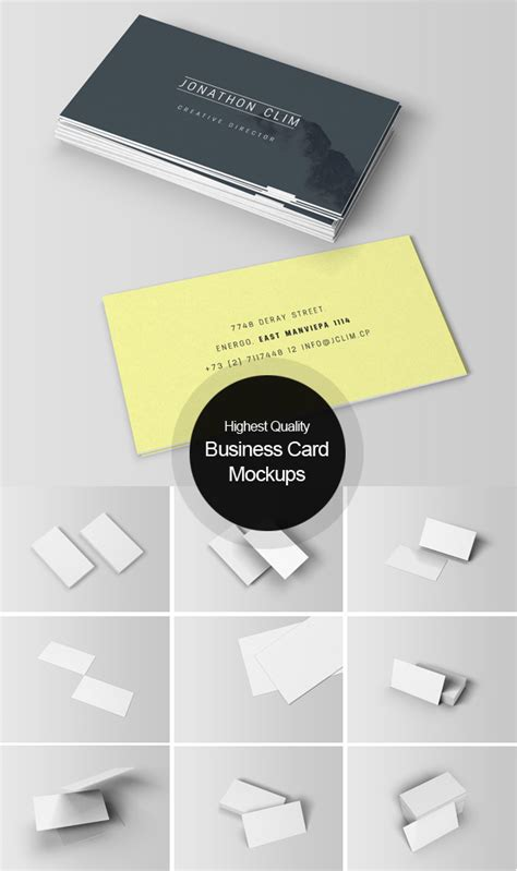 mockup templates for business cards 100 best free psd mockups freebies graphic design junction