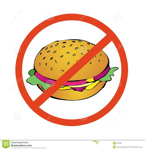 No To High Calorie Food Stock Photo   Image: 807960