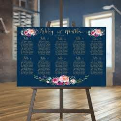 wedding seating chart printable navy guests list printable