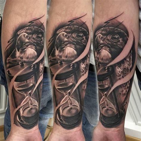 eagle head and hourglass tattoo tattoo geek ideas for