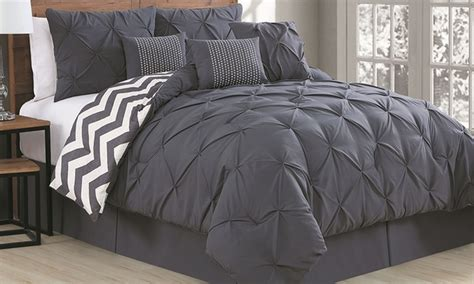 pleated comforter sets 7 piece groupon goods