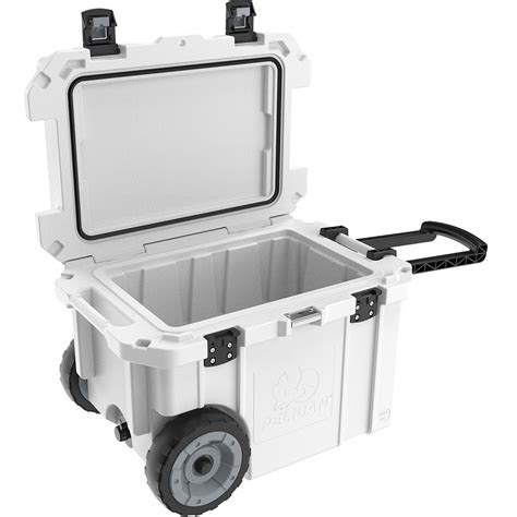 heavy duty coolers with wheels pelican 45 qt elite cooler with wheels white lowest prices