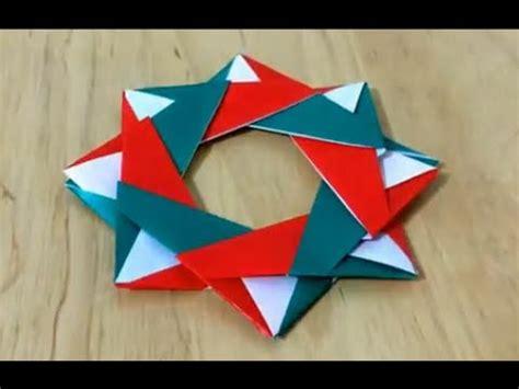 7 Paper Fold - クリスマスリース 折り紙 折り方 難易度 how to fold origami