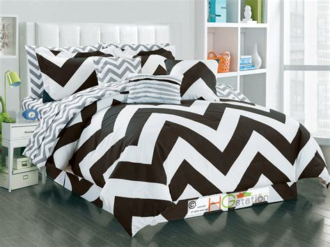 zig zag pattern bedspread 11 striated chevron zigzag reversible comforter sheet set